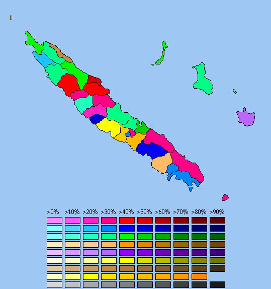New Caledonia 2009 Maps World Elections