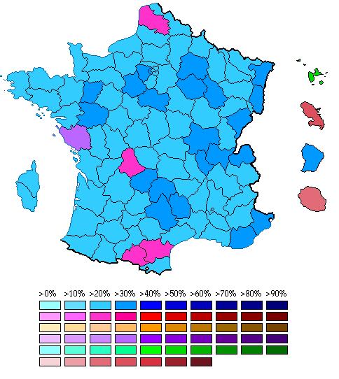 EU Parliament 2009 %