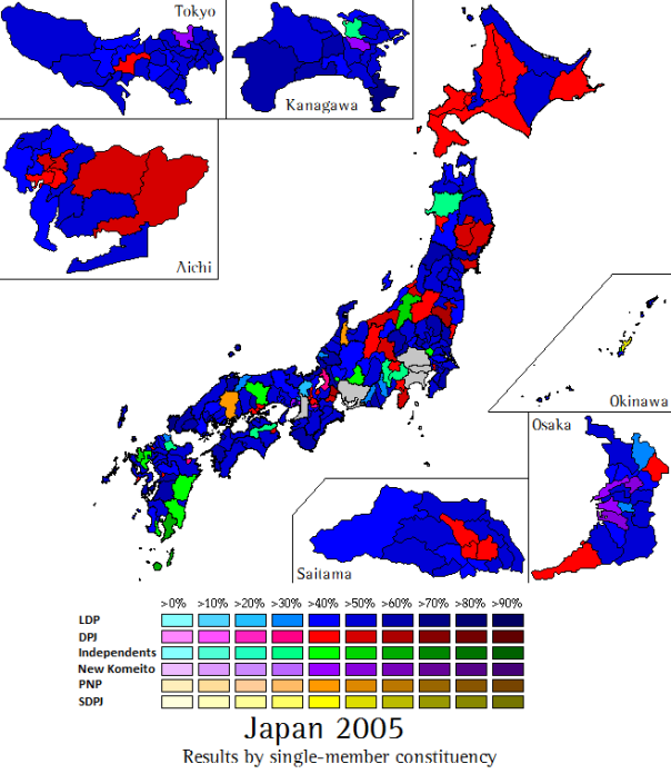 Election Preview Japan World Elections - 2009 us election results map