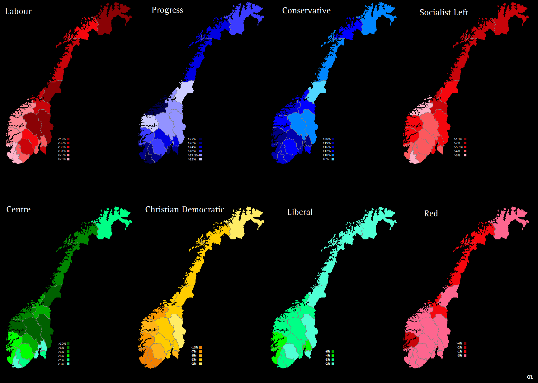 Norway Analysis World Elections - Norway election map