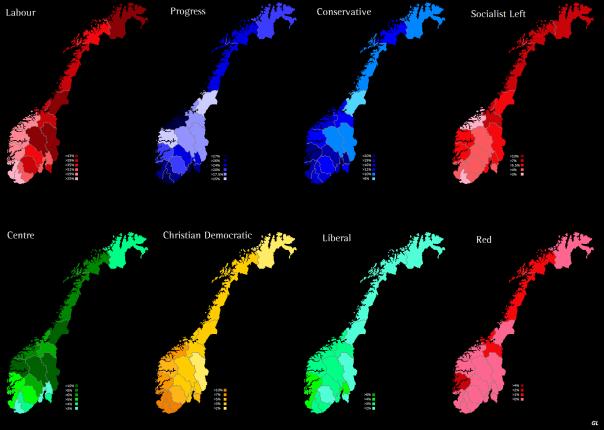 Norway 2009 - Parties