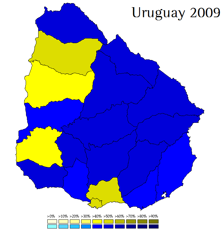 Uruguay World Elections - Uruguay map png