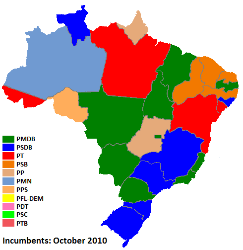 Guide To The Brazilian Election World Elections - Brazil election map