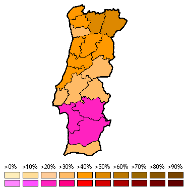 Portugal World Elections - Portugal election map