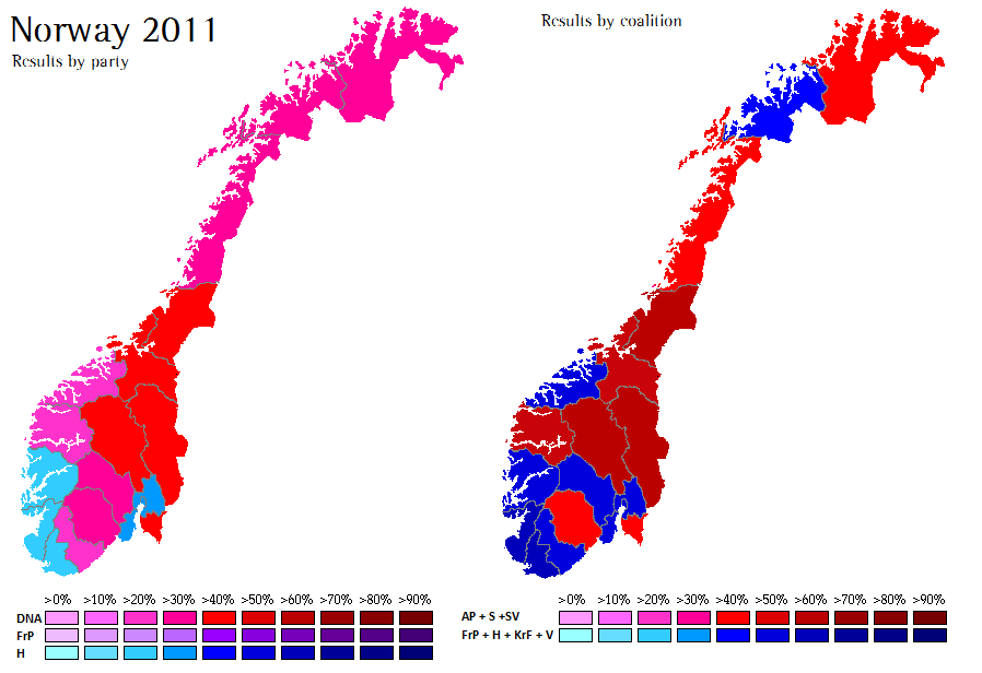 Norway Locals World Elections - Norway election map