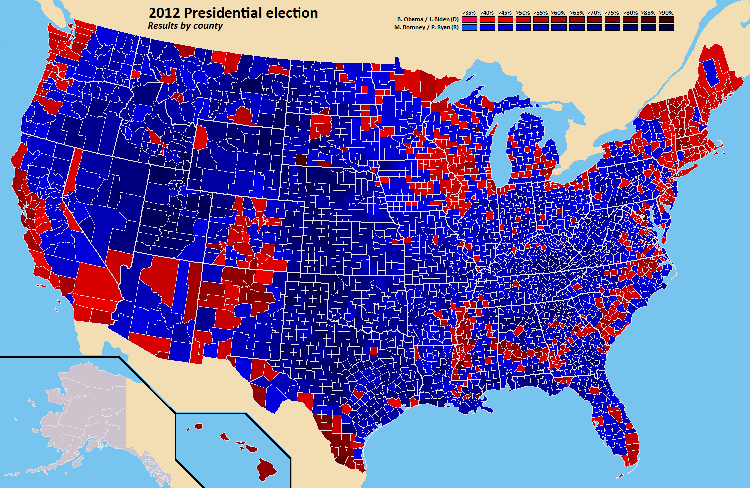 results of the presidential election by county
