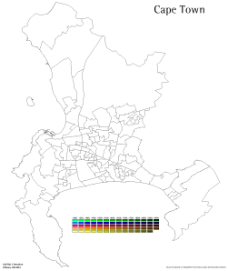 Electoral wards in Cape Town, 2011-2016 (own map, adapted from Municipal Demarcation Board)
