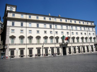 Palazzo Chigi, the seat and residence of the Prime Minister (own picture)