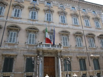 Palazzo Madama, the seat of the Italian Senate in Rome (own picture)