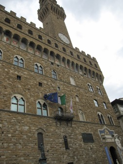 The Palazzo Vecchio, Florence's town hall (own picture)
