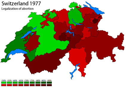 1977 popular initiative to legalize abortion on demand (own map)