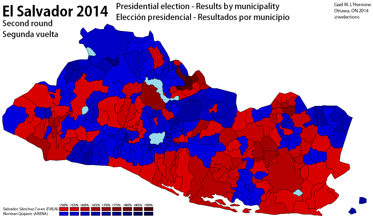 El Salvador World Elections 1980 Us Presidential Election Map