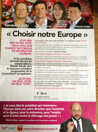 PS-PRG campaign literature in the Île-de-France constituency (own picture)