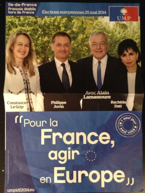 UMP campaign literature - IdF constituency (own picture)