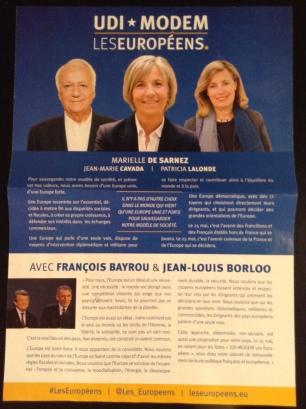 UDI-MoDem campaign literature, IdF constituency (own picture)