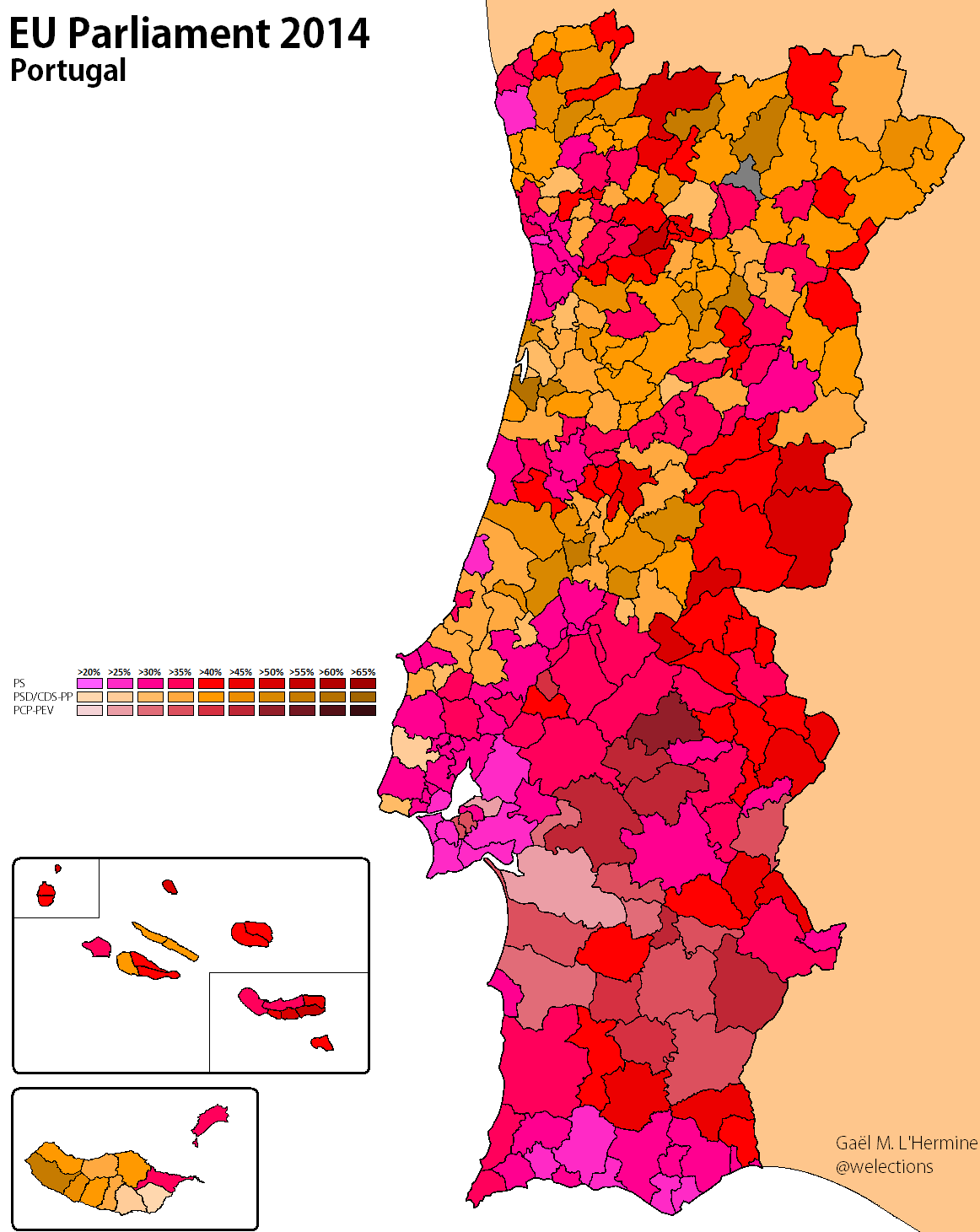 EU Poland To Slovakia World Elections - Portugal election map