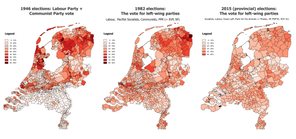 Historic election data from verkiezingsuitslagen.nl. Maps with historic municipal boundaries via Data Archiving and Networked Services — DANS: Dr. O.W.A. Boonstra (2007), NLGis shapefiles, http://persistent-identifier.nl/urn:nbn:nl:ui:13-wsh-wv7