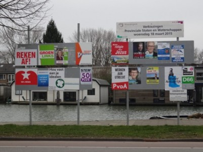 Election posters for the 2015 provincial elections. Photo by harry_nl, licensed under Creative Commons