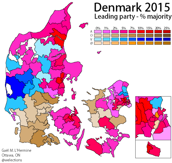 Denmark 2015 - Leading party